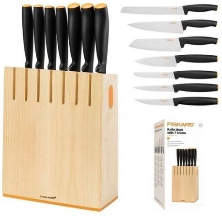 Zestaw 7 noży blok FISKARS 1018781