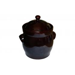 BOLESŁAWIEC Garnek ceramiczny kamionka I gatunek beczułka 10 L z pokrywą