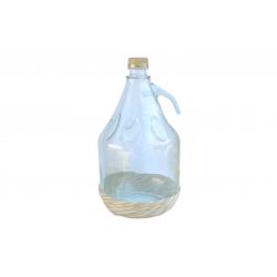 Balon szklany, dymion 3 L w oplocie